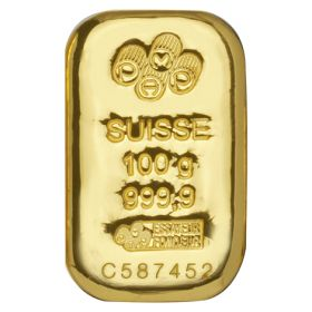 100g PAMP Cast Gold Bars
