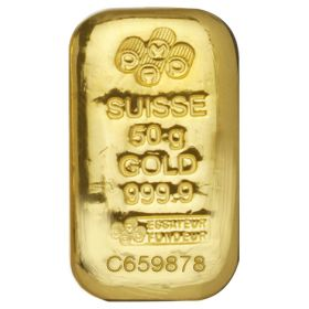 50g PAMP Cast Gold Bars