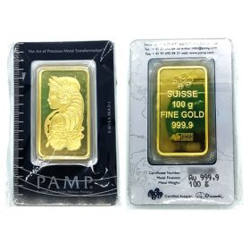 Gold Bar - Pamp Suisse - 100 G