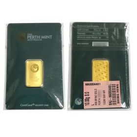 Gold Bar - Perth Mint - 10 G